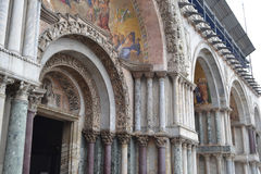 Colonnade of the Basilica di San Marco Stock Images