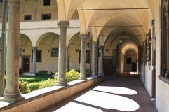 Colonnade at Basilica of San Lorenzo, Florence Stock Images