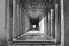 Colonnade. At Berlin Museum Island, Germany stock photography