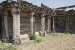 Colonnade bij de tempel complex van Angkor Wat Stock Fotografie