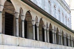 Colonnade of Blue mosque Stock Photos