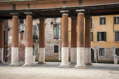 Colonnade and buildings, Venice Royalty Free Stock Photos