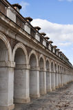 Colonnade in Casa de los Oficios palace, Aranjuez (Spain) Royalty Free Stock Photo