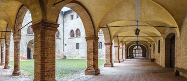 Colonnade in castle Royalty Free Stock Photo