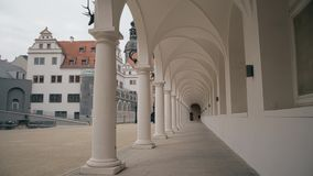 Colonnade arcade of the Castle Stallhof in Dresden, Germany. Colonnade of the Castle Stallhof in Dresden Stock Photography