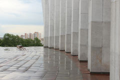 Colonnade of the Central Museum of the Great Patriotic War on Poklonnaya Hill. Moscow Stock Photo