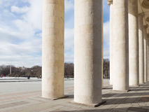 Colonnade of the Central Park of Culture and Recreation Stock Images