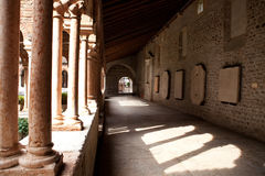 Colonnade, Church of San Zeno, Verona Royalty Free Stock Image