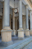 The colonnade with clock in Karlovy Vary Royalty Free Stock Photo