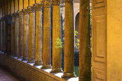 Colonnade with columns in a row. From the 19th century Royalty Free Stock Photos