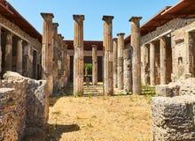 Ruins of Pompeii, ancient Roman city. Pompei, Campania. Italy. royalty free stock photos