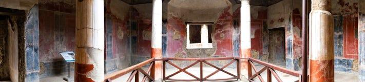 Colonnade d'un romain antique, Pompeii dans Itaky images stock