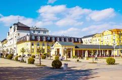Colonnade dans Franzensbad Images libres de droits