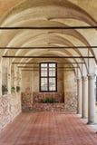 Colonnade de château Château dans Telc Sites de l'UNESCO Photographie stock