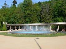 Colonnade de Luhacovice - ovice de  de LuhaÄ de fontaine Photo stock