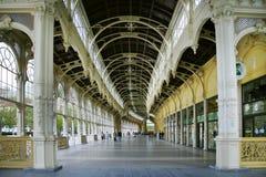 Colonnade de ressort, station thermale Marianske Lazne, République Tchèque Photographie stock