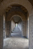 Colonnade with a diminishing perspective Royalty Free Stock Photo