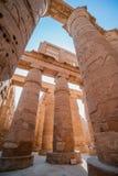 Colonnade in Egypt. Colonnade Karnak Temple in Luxor. Egypt stock image