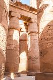 Colonnade in Egypt. Colonnade Karnak Temple in Luxor. Egypt stock photography