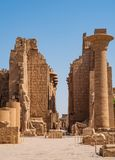 Colonnade in Egypt. Colonnade Karnak Temple in Luxor. Egypt royalty free stock photography