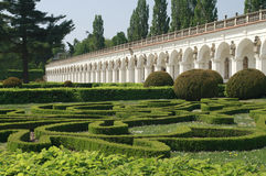 Colonnade in the Floral Garden Kromeriz Royalty Free Stock Image