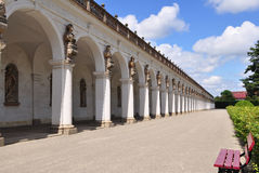 Colonnade in Flower garden in Kromeriz,Czech rep Royalty Free Stock Photos