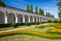 Colonnade in Flower garden in Kromeriz, Czech Republic. UNESCO Royalty Free Stock Photos