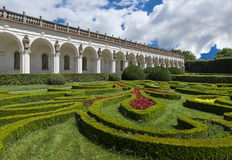 Colonnade in Flower Garden in Kromeriz Stock Photos