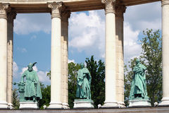 Colonnade fragment on square of heroes. Budapest, Hungary Stock Image