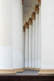 Colonnade of greek columns Royalty Free Stock Photography