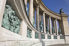 Colonnade on Heroes Square, Budapest Stock Photography
