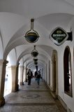 Colonnade in het centrum van Liberec Royalty-vrije Stock Fotografie