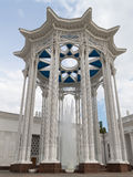 Colonnade and high fountain Royalty Free Stock Photography
