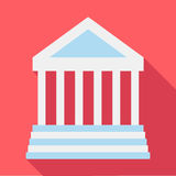 Colonnade icon, flat style. Colonnade icon. Flat illustration of colonnade vector icon for web Royalty Free Stock Image
