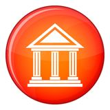 Colonnade icon, flat style Stock Photography