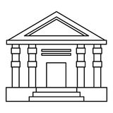 Colonnade icon, outline style Royalty Free Stock Photos
