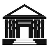 Colonnade icon, simple style Royalty Free Stock Photo