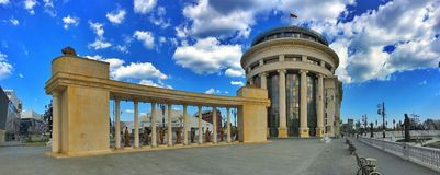 Colonnade. Independent Macedonian Colonnade in Skopje Stock Photos