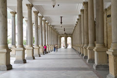Colonnade in Karlovy Vary Stock Images