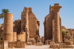 Colonnade in Egypt. Colonnade Karnak Temple in Luxor. Egypt stock photos