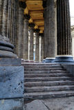 Colonnade of the Kazan Cathedral. In St. Petersburg (Russia Royalty Free Stock Photography