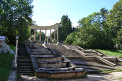 Colonnade of Kislovodsk park Royalty Free Stock Images