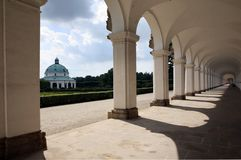 Colonnade in Kromeriz Royalty Free Stock Images