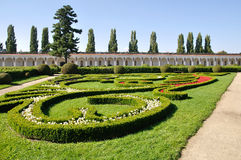 Colonnade in Kromeriz flower Garden Stock Photos