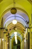 Colonnade and lamps Royalty Free Stock Photography