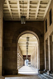 Colonnade and lanterns Royalty Free Stock Photo