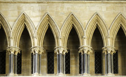 Colonnade lincoln cathedral Royalty Free Stock Photos