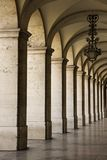 Colonnade in Lissabon, Portugal. Stock Afbeelding