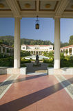 Colonnade and long pool of the Getty Villa, Malibu Villa of the J. Paul Getty Museum in Los Angeles, California Royalty Free Stock Images