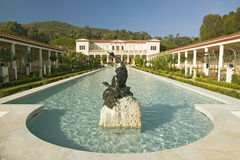 Colonnade and long pool of the Getty Villa, Malibu Villa of the J. Paul Getty Museum in Los Angeles, California Stock Image